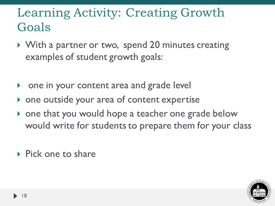 Learning Activity: Creating Growth Goals