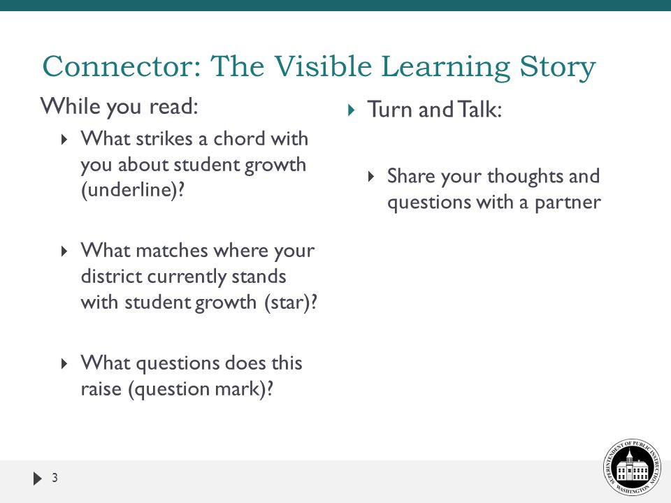 Connector: The Visible Learning Story