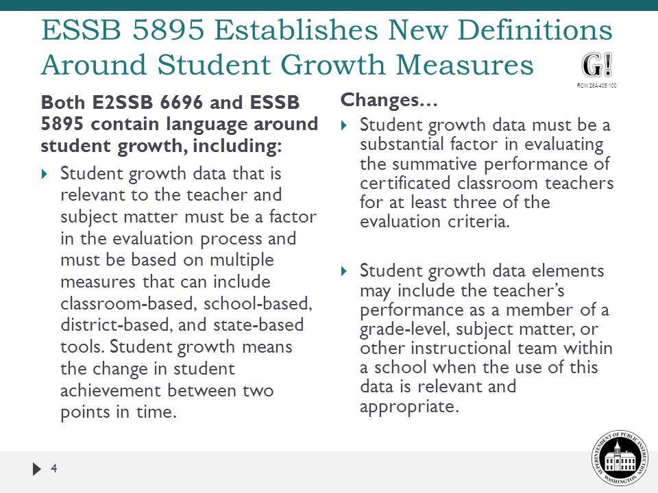 ESSB 5895 Establishes New Definitions Around Student Growth Measures