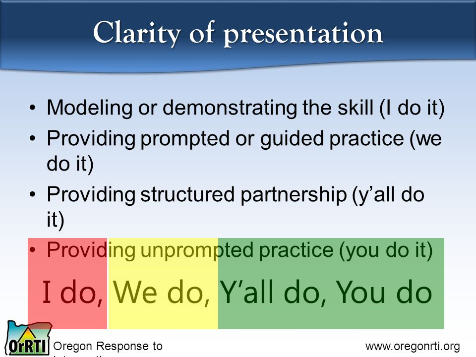 Clarity of presentation