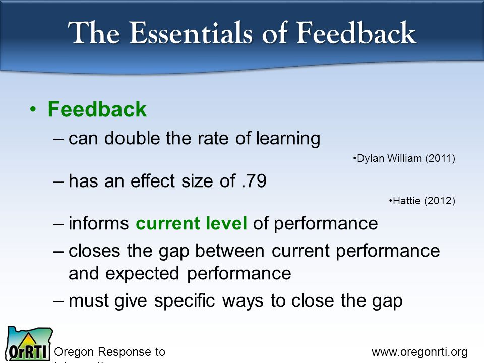The Essentials of Feedback