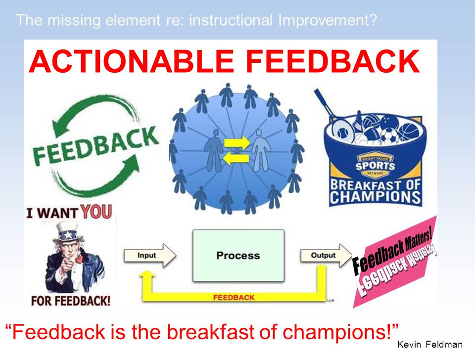 Feedback is the breakfast of champions!