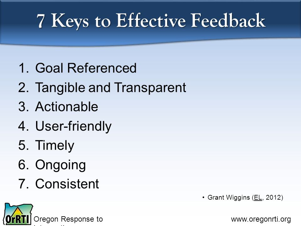 7 Keys to Effective Feedback