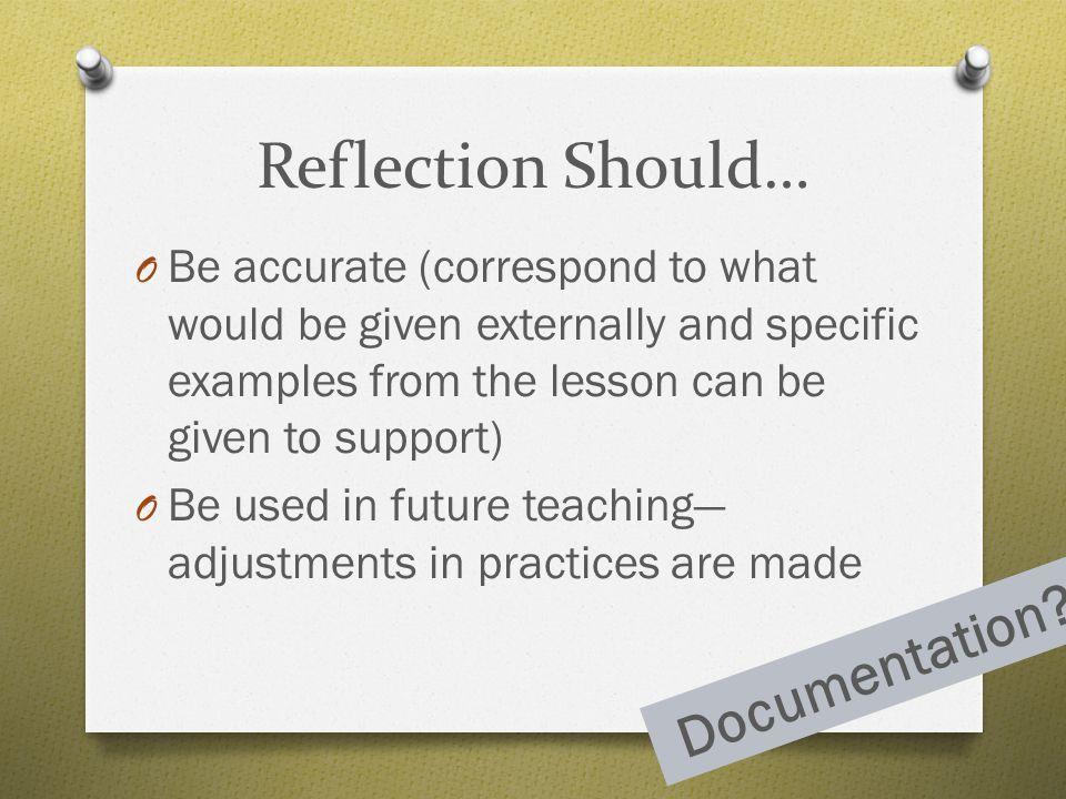 Reflection Should… Documentation