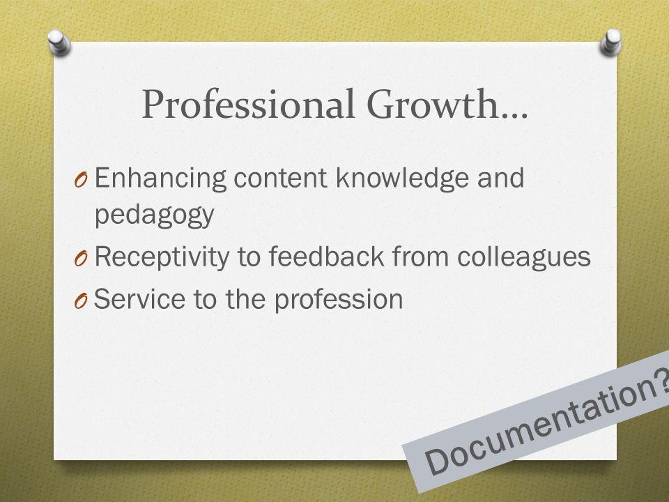 Professional Growth… Documentation
