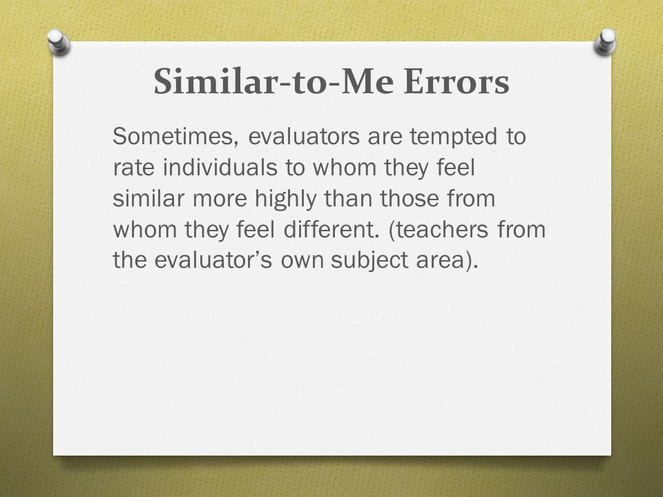 Similar-to-Me Errors