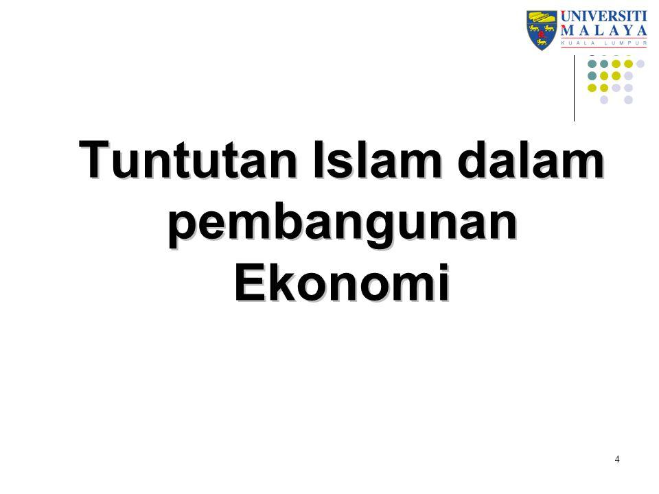 Tuntutan Islam dalam pembangunan Ekonomi