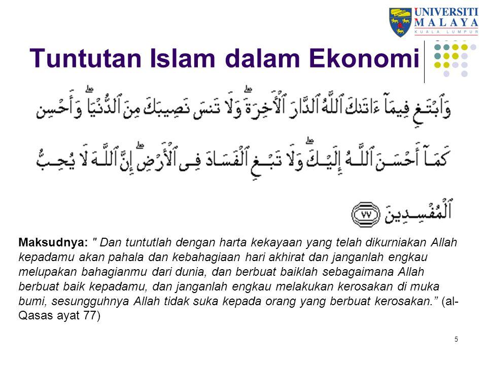 Tuntutan Islam dalam Ekonomi