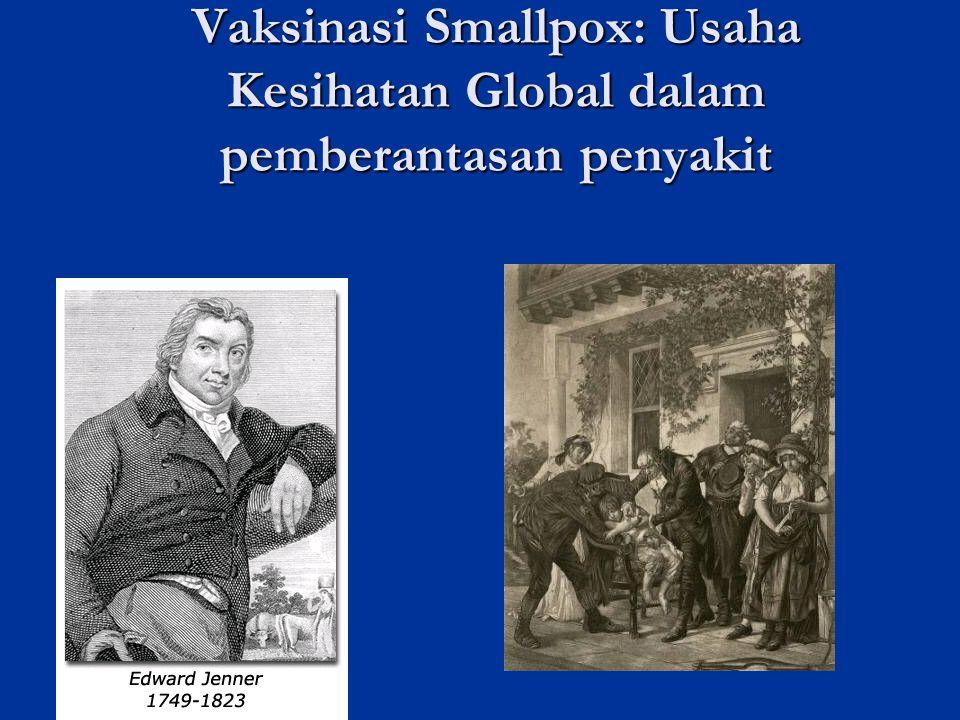 Vaksinasi Smallpox: Usaha Kesihatan Global dalam pemberantasan penyakit