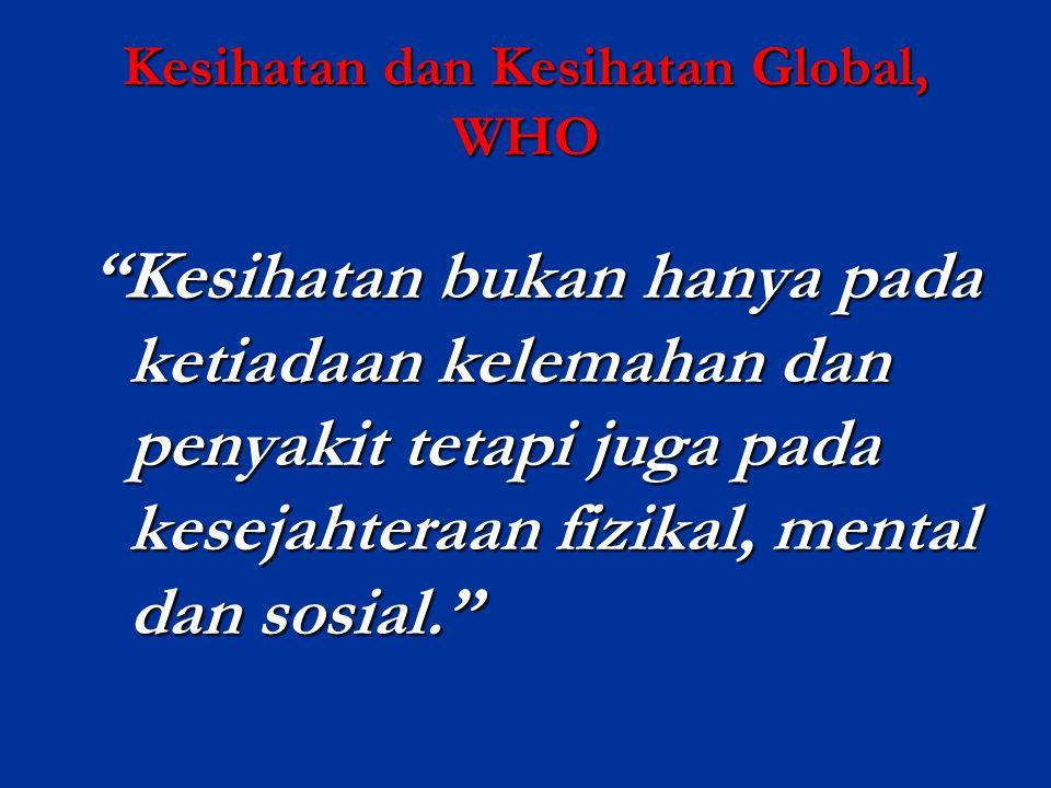 Kesihatan dan Kesihatan Global, WHO