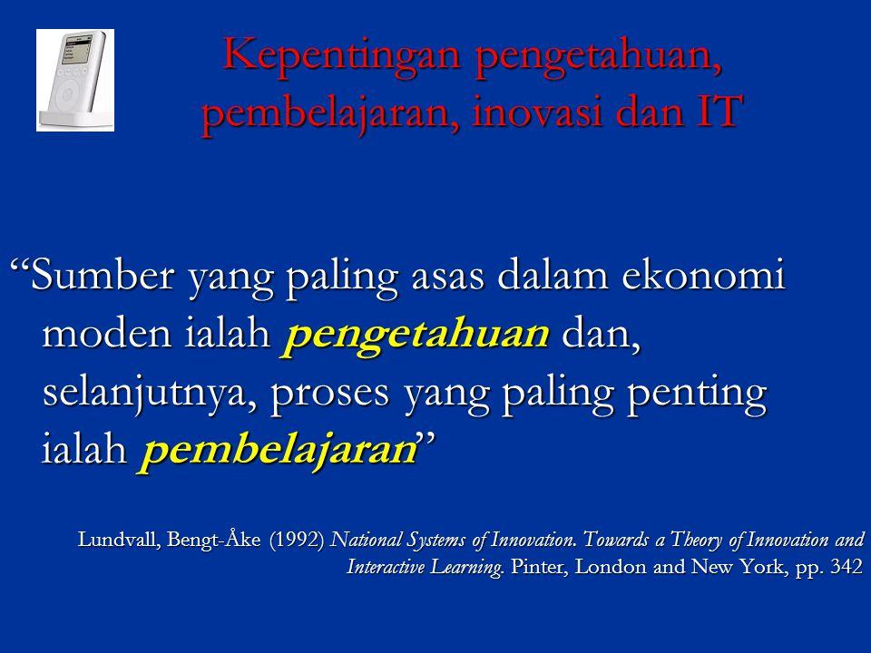 Kepentingan pengetahuan, pembelajaran, inovasi dan IT