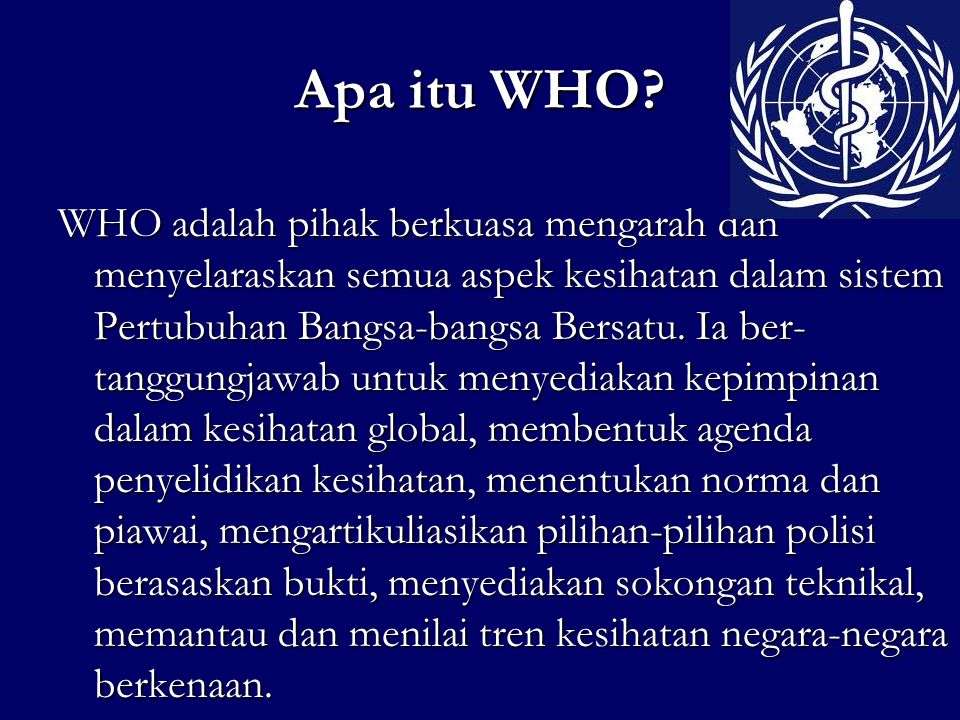 Apa itu WHO