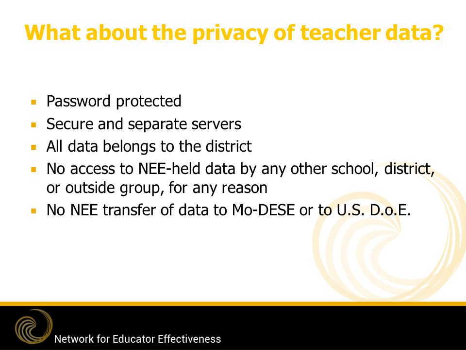 What about the privacy of teacher data