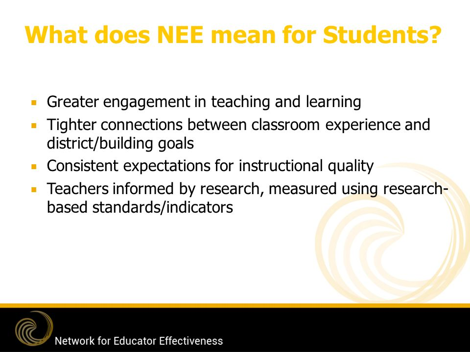 What does NEE mean for Students