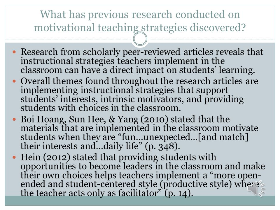What has previous research conducted on motivational teaching strategies discovered