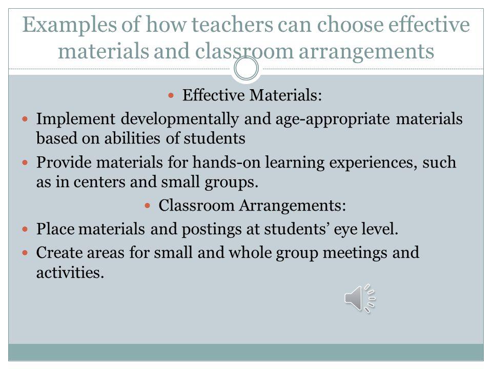 Classroom Arrangements: