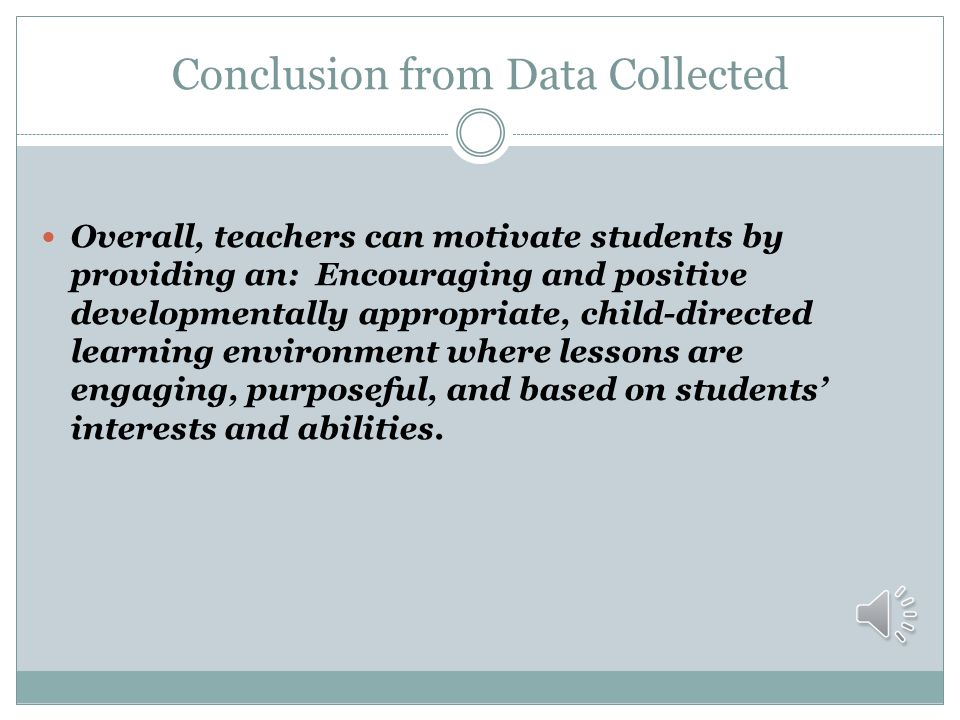 Conclusion from Data Collected