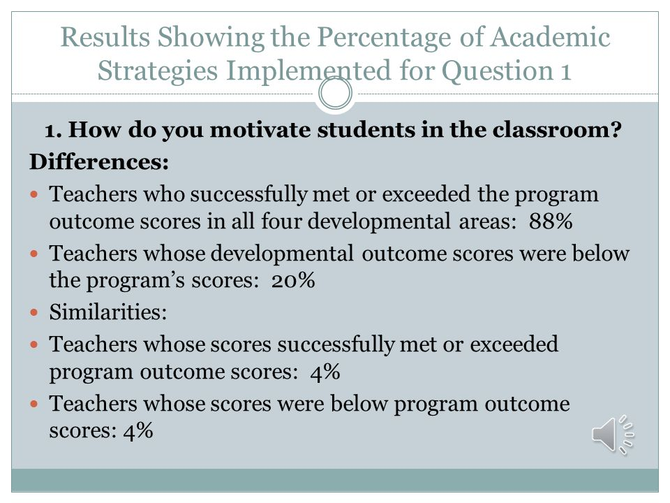 1. How do you motivate students in the classroom