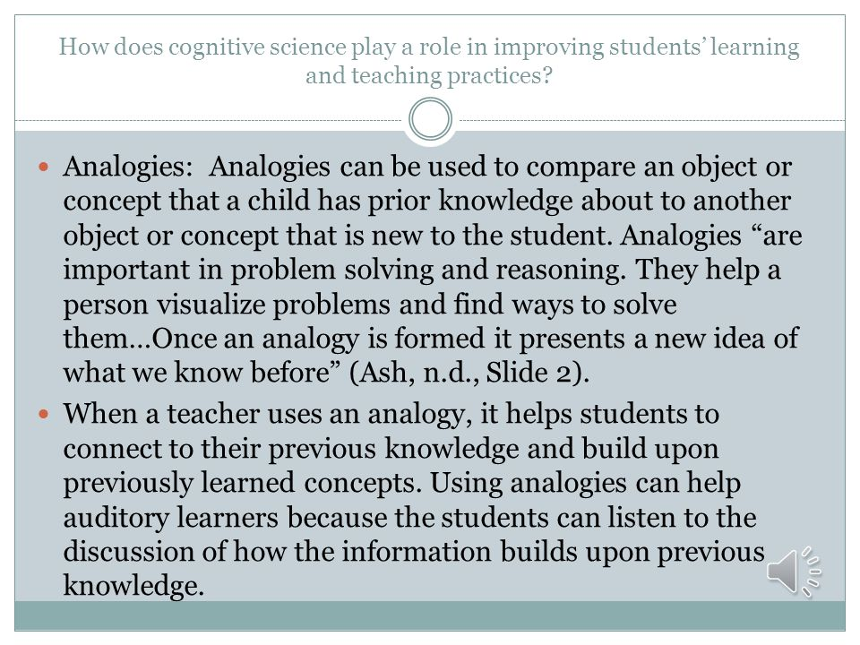 How does cognitive science play a role in improving students' learning and teaching practices