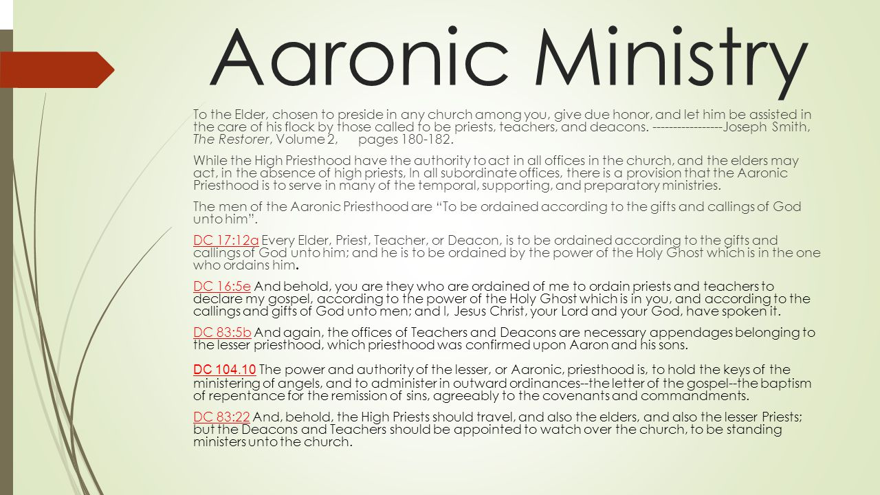 Aaronic Ministry