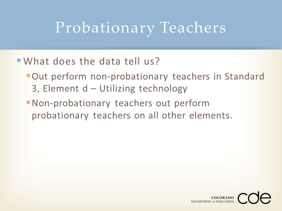 Probationary Teachers