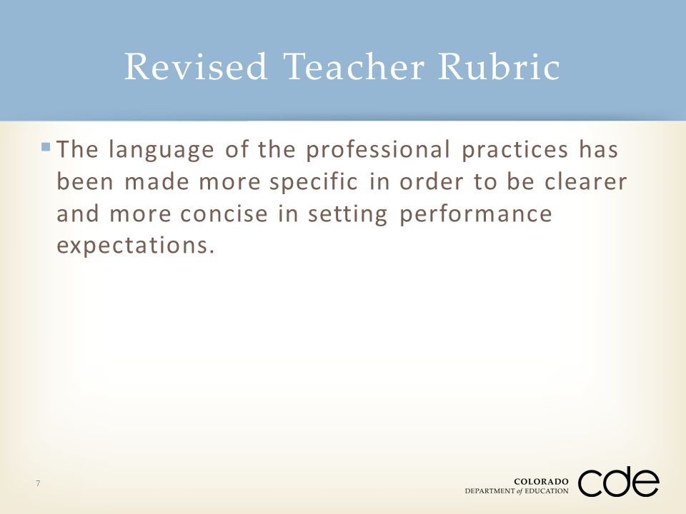 Revised Teacher Rubric