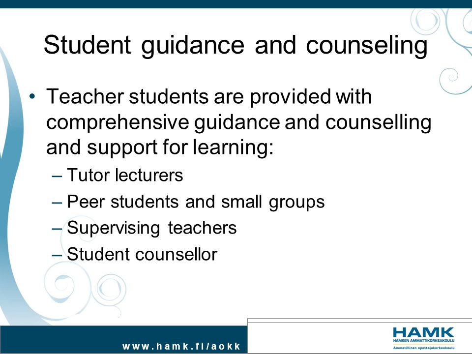Student guidance and counseling