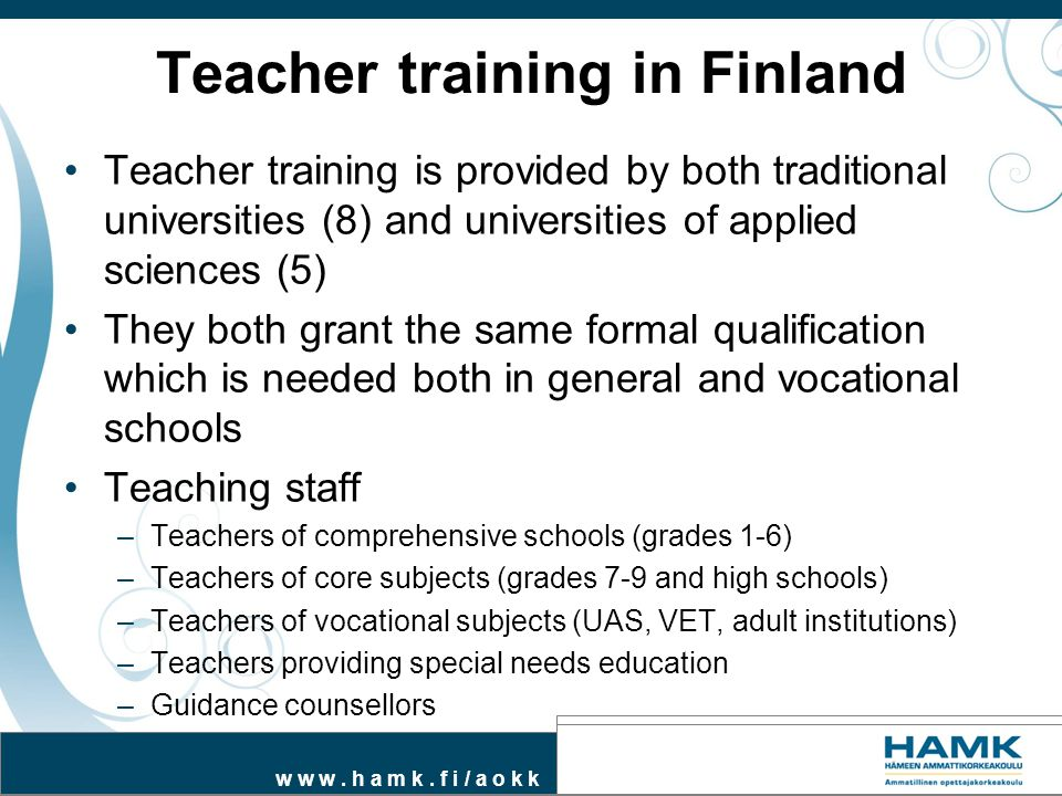 Teacher training in Finland