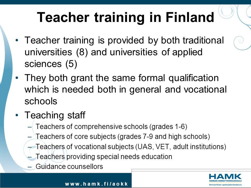 Teacher training in Finland