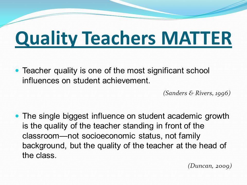 Quality Teachers MATTER