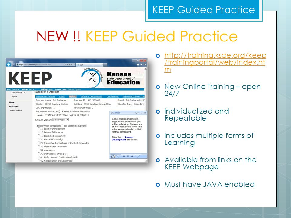 NEW !! KEEP Guided Practice