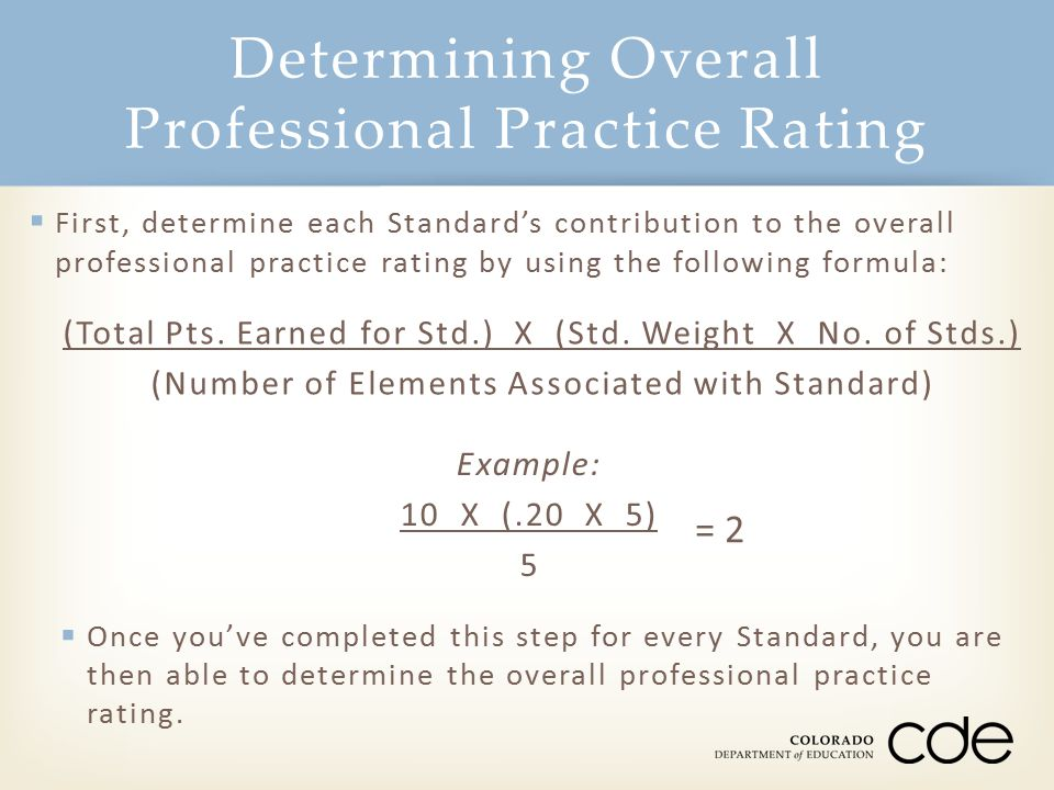 Determining Overall Professional Practice Rating