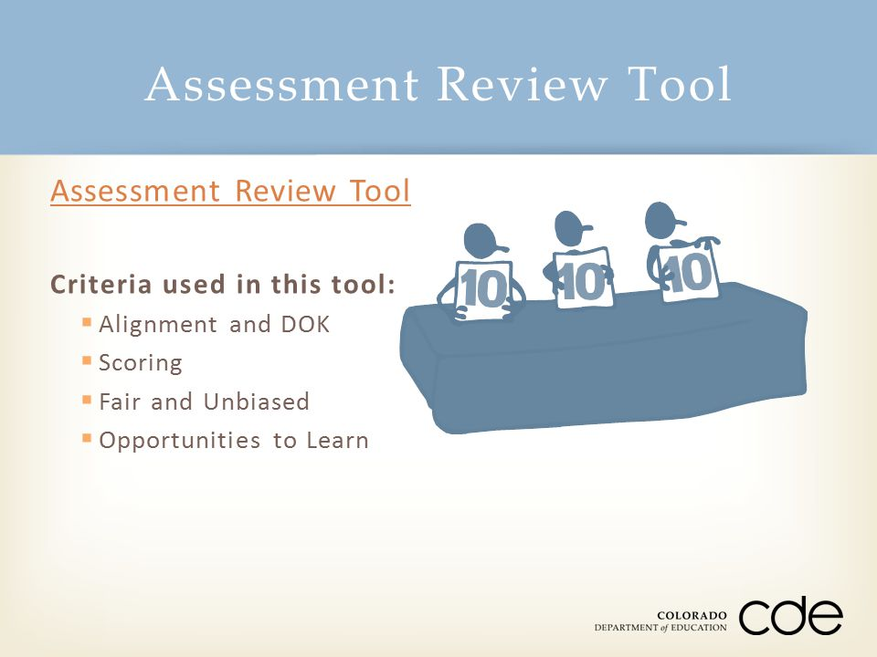 Assessment Review Tool