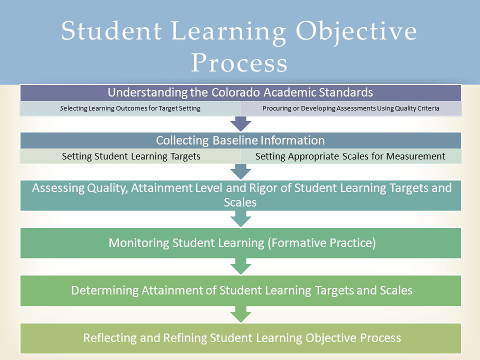 Student Learning Objective Process