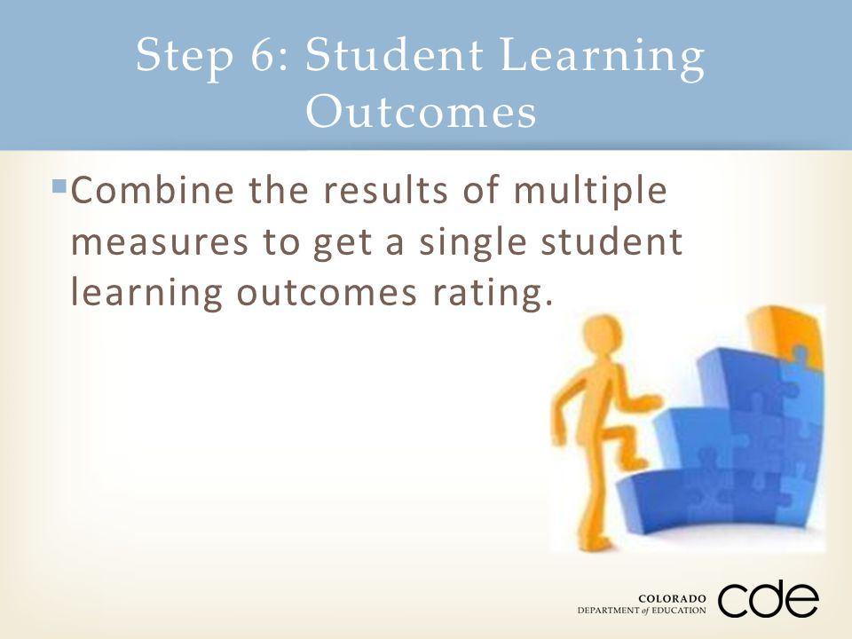 Step 6: Student Learning Outcomes
