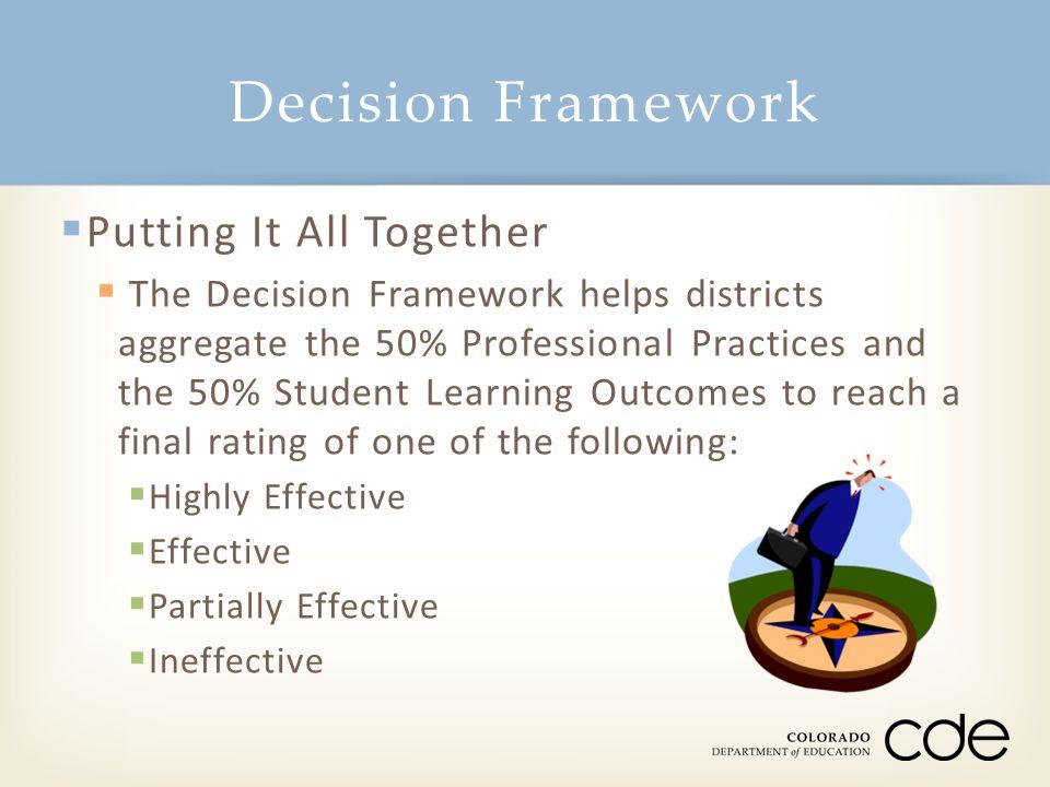 Decision Framework Putting It All Together