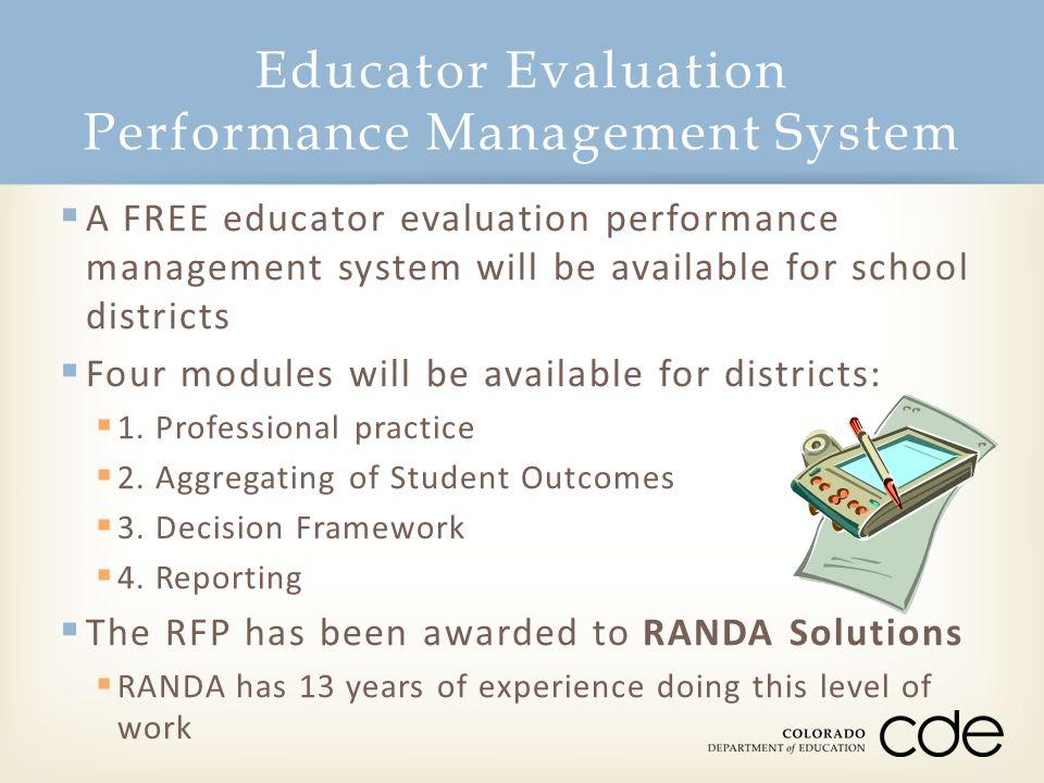 Educator Evaluation Performance Management System