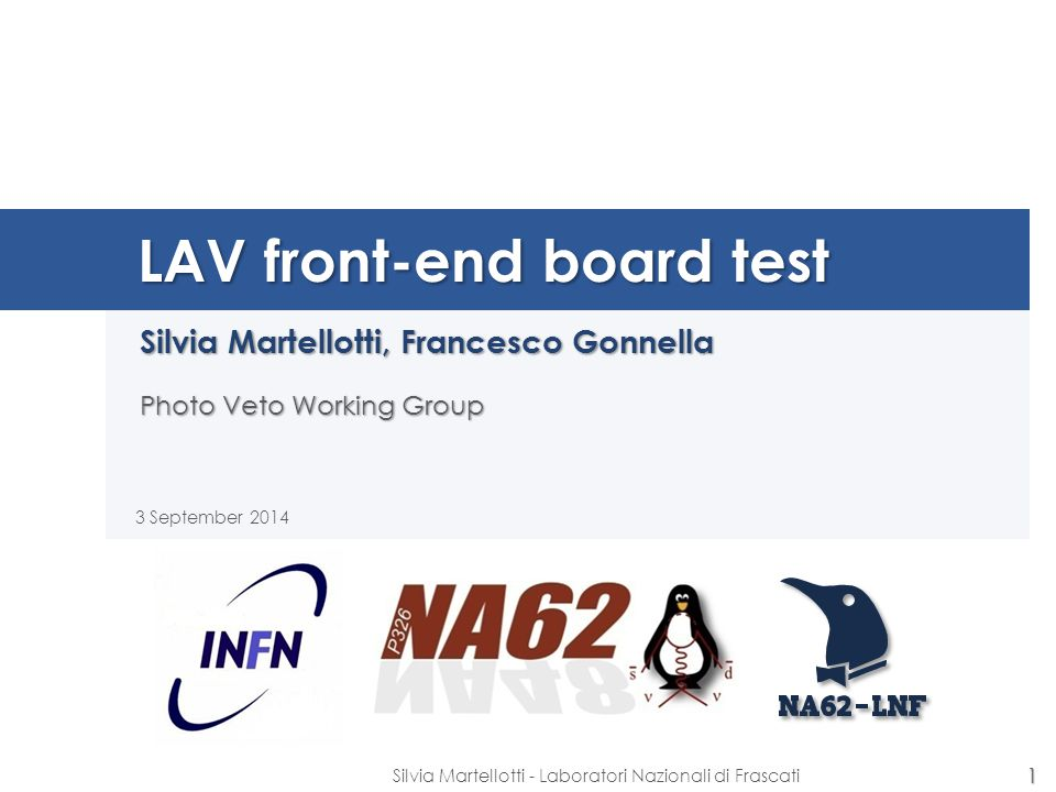 LAV front-end board test