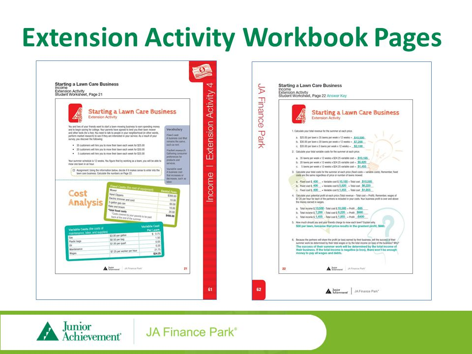 Student Workbook Pages