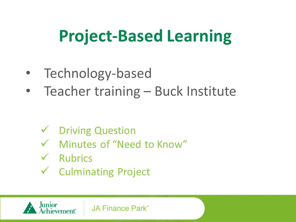 PBL Lesson Features The PBL option follows some of the same formatting we've seen in the traditional lessons.