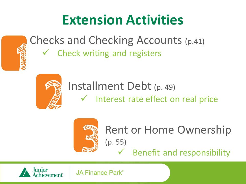 Extension Activities Leasing vs. Buying a Car (p.61)
