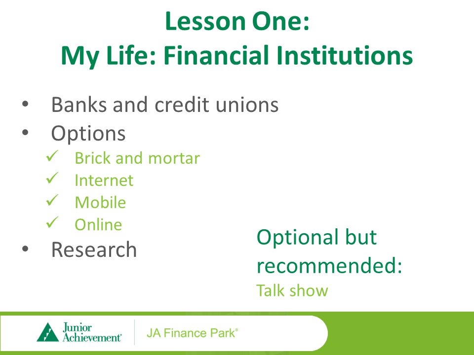 Lesson Two: My Life: Cost of Credit