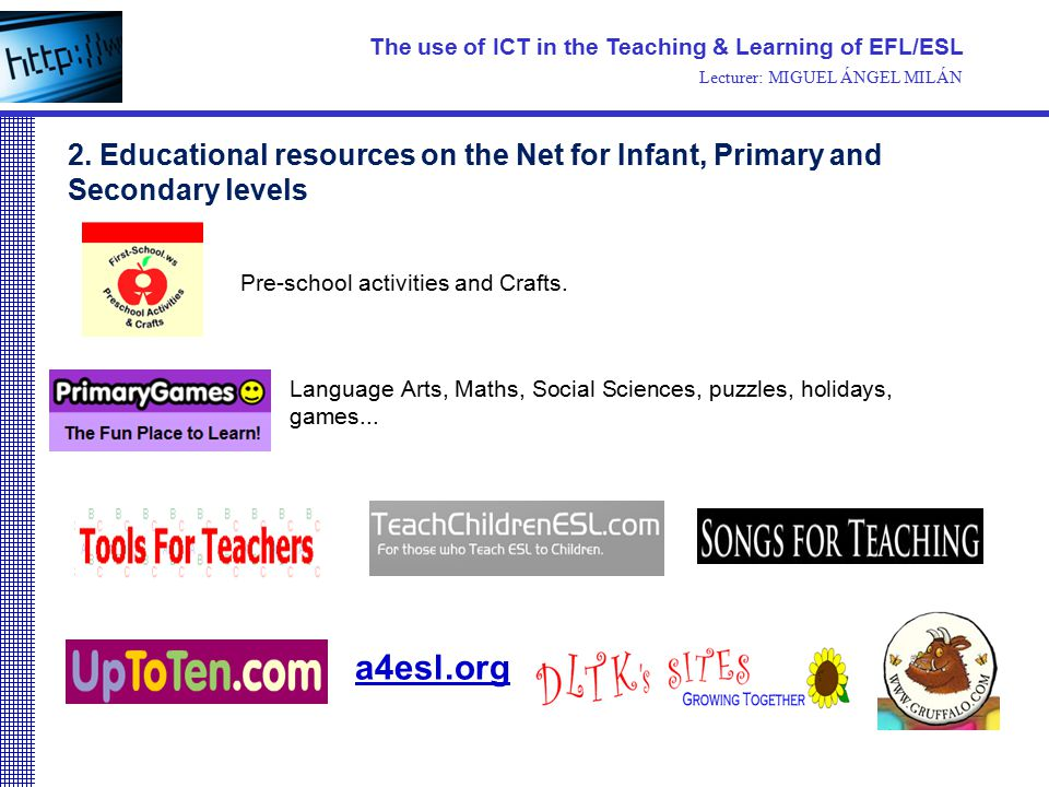use of ict in teaching The information and communication technology (ict) to promote computer enabled learning and usage of ict in teaching in government and government aided secondary and higher secondary schools has provision for instituting the national award for innovative use of ict to motivate the teachers.
