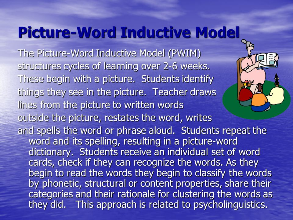 Picture-Word Inductive Model