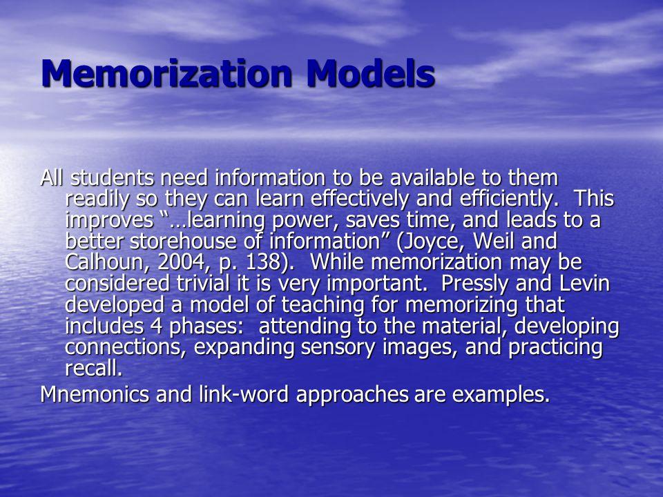 Memorization Models