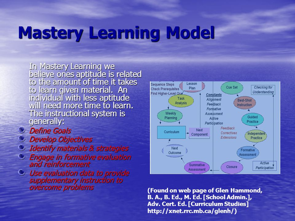 Mastery Learning Model