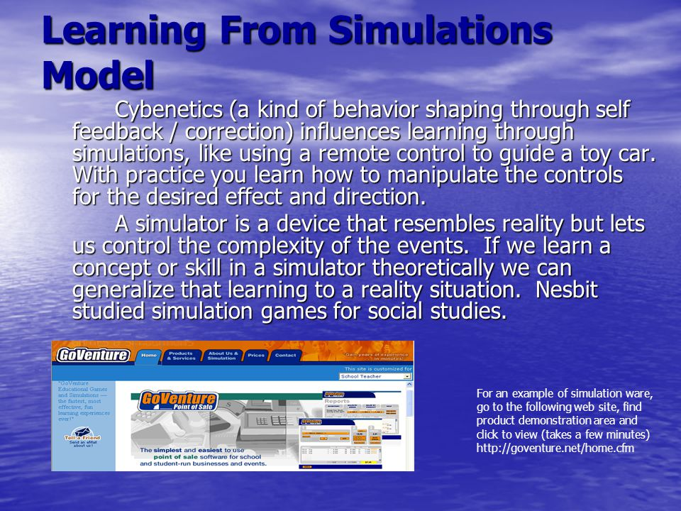 Learning From Simulations Model