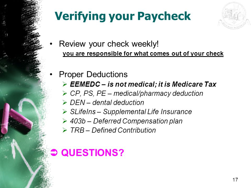 Verifying your Paycheck