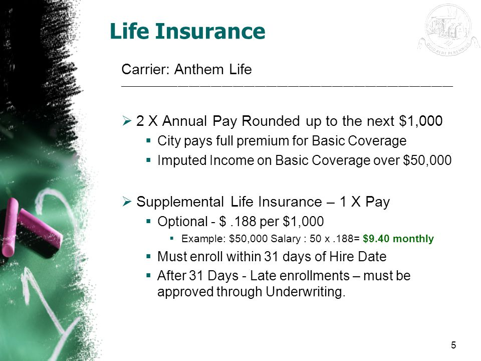 Life Insurance Carrier: Anthem Life