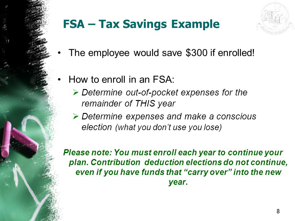 FSA – Tax Savings Example